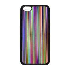 Striped Stripes Abstract Geometric Apple Iphone 5c Seamless Case (black) by Amaryn4rt