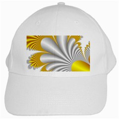 Fractal Gold Palm Tree  White Cap by Amaryn4rt