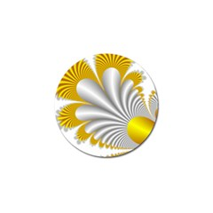Fractal Gold Palm Tree  Golf Ball Marker by Amaryn4rt