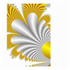 Fractal Gold Palm Tree  Small Garden Flag (two Sides) by Amaryn4rt