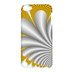 Fractal Gold Palm Tree  Apple Ipod Touch 5 Hardshell Case by Amaryn4rt