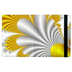 Fractal Gold Palm Tree  Apple Ipad 3/4 Flip Case by Amaryn4rt