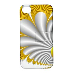 Fractal Gold Palm Tree  Apple Iphone 4/4s Hardshell Case With Stand by Amaryn4rt