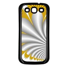 Fractal Gold Palm Tree  Samsung Galaxy S3 Back Case (black) by Amaryn4rt