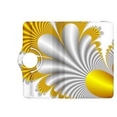 Fractal Gold Palm Tree  Kindle Fire Hdx 8 9  Flip 360 Case by Amaryn4rt