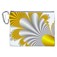 Fractal Gold Palm Tree  Canvas Cosmetic Bag (xxl) by Amaryn4rt