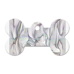 Abstract Background Chromatic Dog Tag Bone (two Sides) by Amaryn4rt