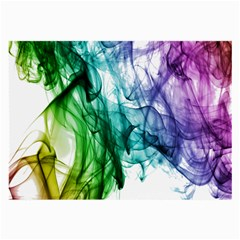 Colour Smoke Rainbow Color Design Large Glasses Cloth (2 Side) by Amaryn4rt