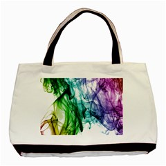 Colour Smoke Rainbow Color Design Basic Tote Bag (two Sides) by Amaryn4rt