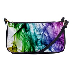 Colour Smoke Rainbow Color Design Shoulder Clutch Bags by Amaryn4rt