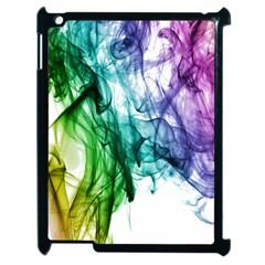 Colour Smoke Rainbow Color Design Apple Ipad 2 Case (black) by Amaryn4rt