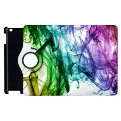 Colour Smoke Rainbow Color Design Apple Ipad 3/4 Flip 360 Case by Amaryn4rt