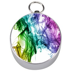 Colour Smoke Rainbow Color Design Silver Compasses by Amaryn4rt