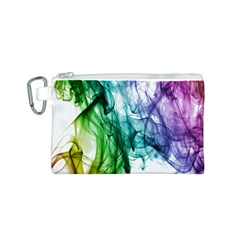 Colour Smoke Rainbow Color Design Canvas Cosmetic Bag (s) by Amaryn4rt