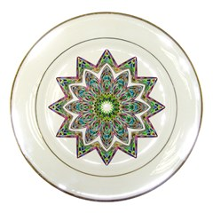 Decorative Ornamental Design Porcelain Plates by Amaryn4rt