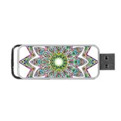 Decorative Ornamental Design Portable Usb Flash (two Sides) by Amaryn4rt