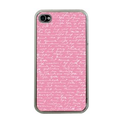 Handwriting  Apple Iphone 4 Case (clear) by Valentinaart