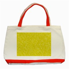 Handwriting  Classic Tote Bag (red) by Valentinaart