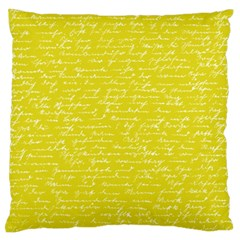 Handwriting  Large Flano Cushion Case (two Sides) by Valentinaart