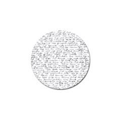 Handwriting  Golf Ball Marker (10 Pack) by Valentinaart