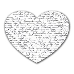 Handwriting  Heart Mousepads by Valentinaart