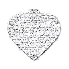 Handwriting  Dog Tag Heart (one Side) by Valentinaart