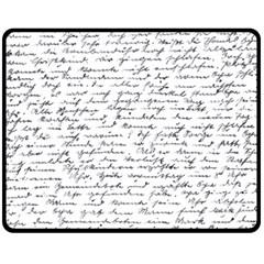 Handwriting  Fleece Blanket (medium)  by Valentinaart