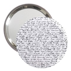 Handwriting  3  Handbag Mirrors by Valentinaart