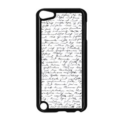 Handwriting  Apple Ipod Touch 5 Case (black) by Valentinaart