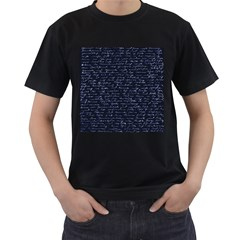 Handwriting Men s T Shirt (black) (two Sided) by Valentinaart
