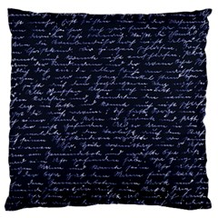 Handwriting Large Cushion Case (one Side) by Valentinaart