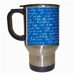 Handwriting Travel Mugs (white) by Valentinaart