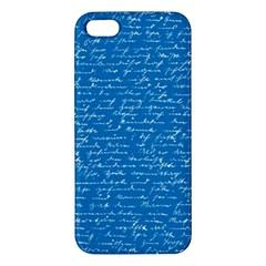 Handwriting Apple Iphone 5 Premium Hardshell Case by Valentinaart
