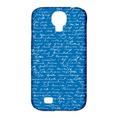 Handwriting Samsung Galaxy S4 Classic Hardshell Case (pc+silicone) by Valentinaart