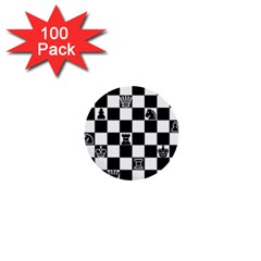 Chess 1  Mini Buttons (100 Pack)  by Valentinaart