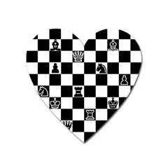 Chess Heart Magnet by Valentinaart