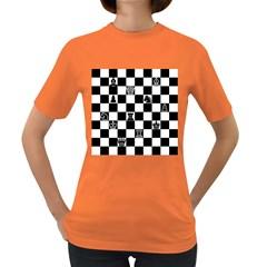 Chess Women s Dark T Shirt by Valentinaart