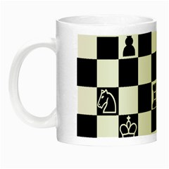 Chess Night Luminous Mugs by Valentinaart