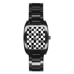 Chess Stainless Steel Barrel Watch by Valentinaart