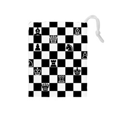 Chess Drawstring Pouches (medium)  by Valentinaart