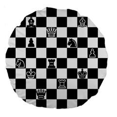 Chess Large 18  Premium Flano Round Cushions by Valentinaart