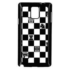 Chess Samsung Galaxy Note 4 Case (black) by Valentinaart