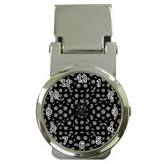 Dark Ditsy Floral Pattern Money Clip Watches by dflcprints