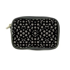 Dark Ditsy Floral Pattern Coin Purse by dflcprints