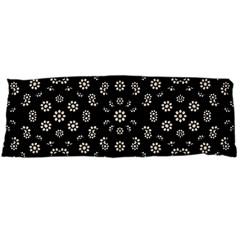 Dark Ditsy Floral Pattern Body Pillow Case Dakimakura (two Sides) by dflcprints