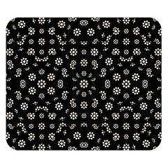 Dark Ditsy Floral Pattern Double Sided Flano Blanket (small)  by dflcprints