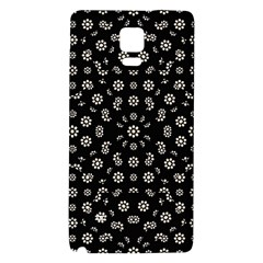Dark Ditsy Floral Pattern Galaxy Note 4 Back Case by dflcprints