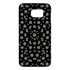 Dark Ditsy Floral Pattern Galaxy S6 by dflcprints