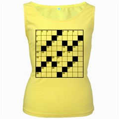 Crosswords  Women s Yellow Tank Top