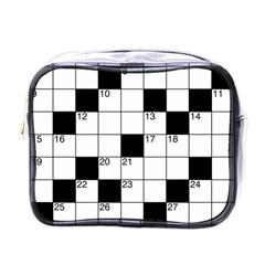Crosswords  Mini Toiletries Bags by Valentinaart